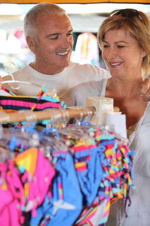 Couple clothes shopping Stock Photo - 11382818
