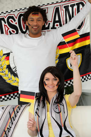 ballgame: Couple supporting Germany