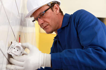 Electrician at work Stock Photo - 11391652