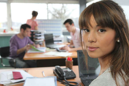 office staff: Colleagues working in office Stock Photo