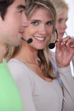 A team of call centre workers photo