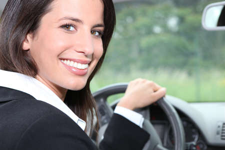 Salesperson driving a car Stock Photo - 11399076