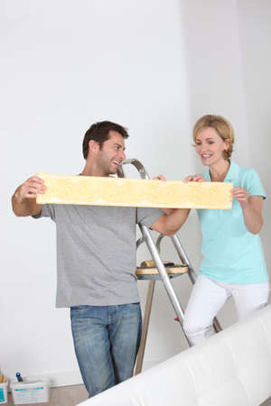 40 45: Couple decorating