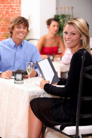 couple in a restaurant photo