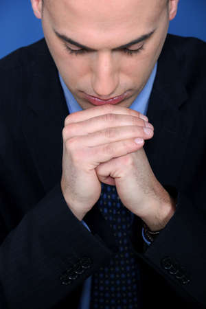 Businessman deep in thought Stock Photo - 11391391