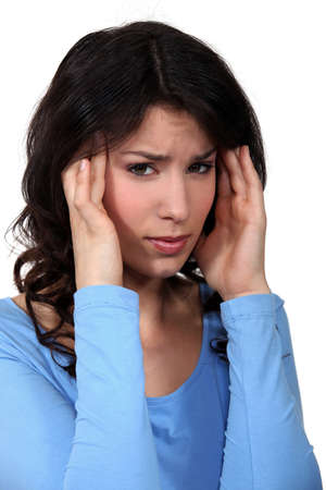 Woman suffering from headache Stock Photo - 11399082