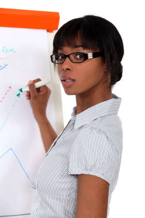 black female executive making presentation during meeting Stock Photo - 11393986