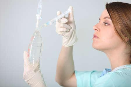 gloves nurse: portrait of a nurse Stock Photo