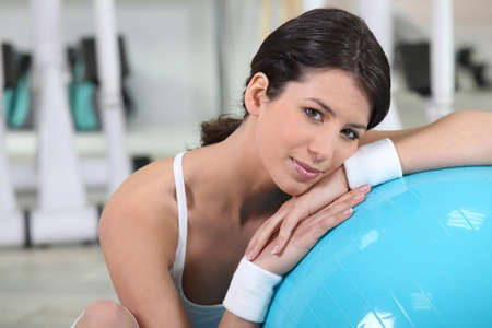 head rest: young woman reposing after fitness