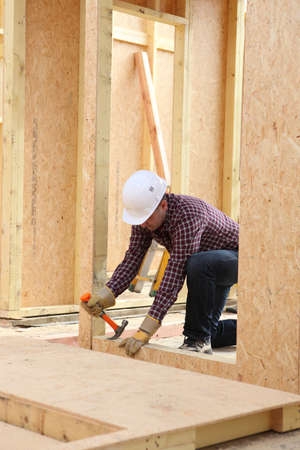 A construction worker on a building site Stock Photo - 11403660