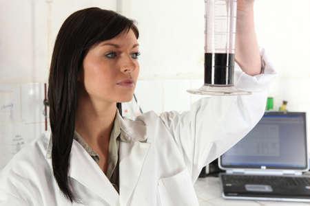 experimenter: Female scientist Stock Photo
