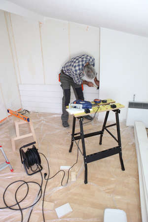 Carpenter hard at work photo