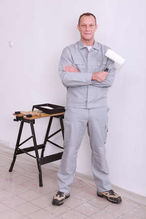 An onsite painter. photo