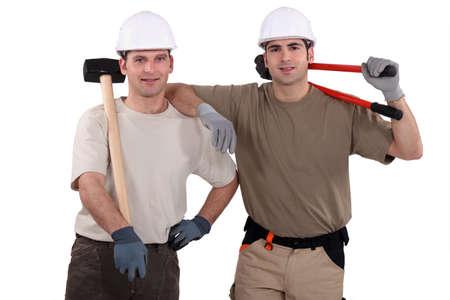Two male handyman photo