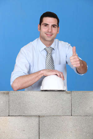Engineer giving his stamp of approval Stock Photo - 11456339