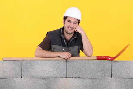 Cheerful builder photo