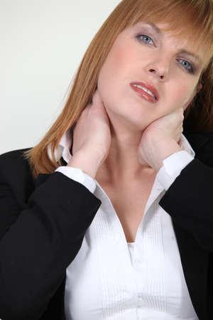beautiful neck: Businesswoman with neck ache