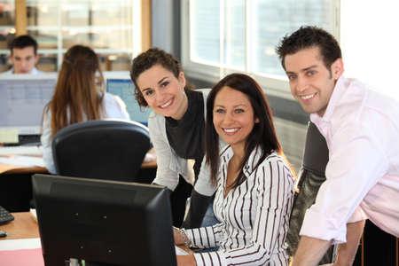Happy office team Stock Photo - 11456979