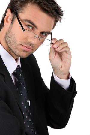 cool attitude: Seductive businessman
