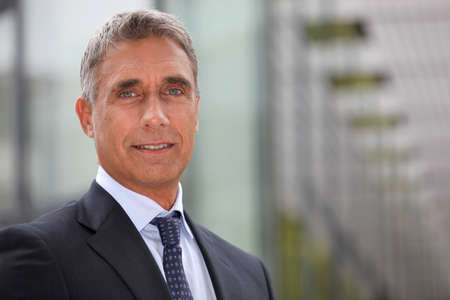 ceo: Business executive stood outdoors