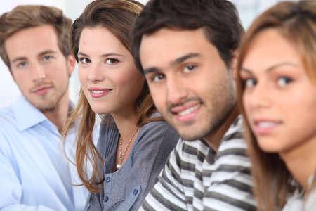 je�ne: Alignez des jeunes Banque d'images