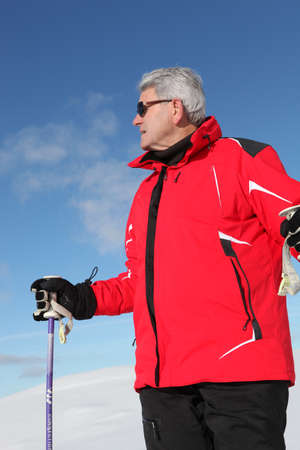 50 to 60: Older male skier