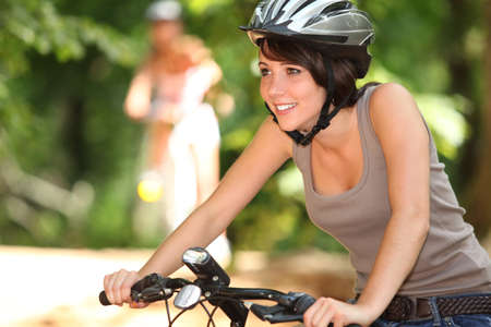 out of doors: Teenager on bike ride