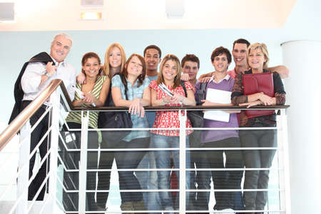 profesores: Profesores y alumnos Foto de archivo
