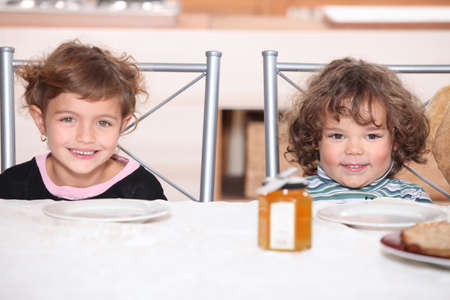 Children waiting for their pancakes Stock Photo - 11457134