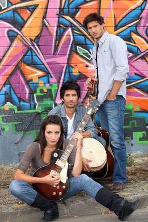 sonic: Musical trio Stock Photo