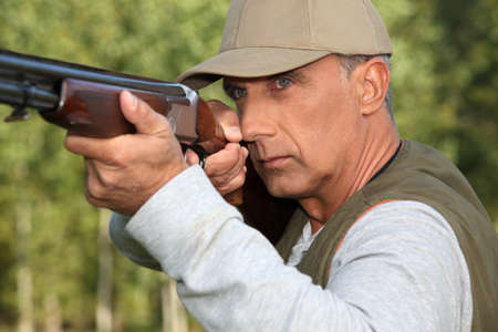 Man out hunting Stock Photo - 11456555