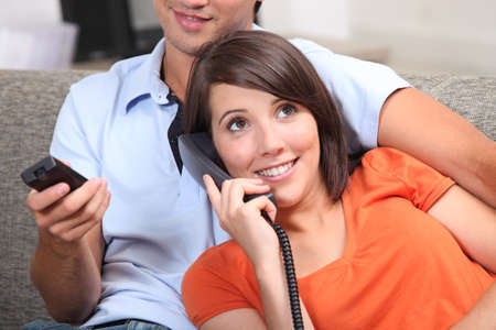 Teenage couple relaxing Stock Photo - 11456716