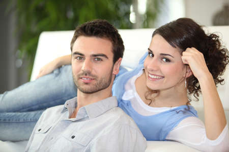 Young couple relaxing photo