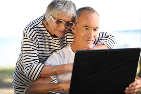 couple of seniors outdoors Stock Photo - 11457143