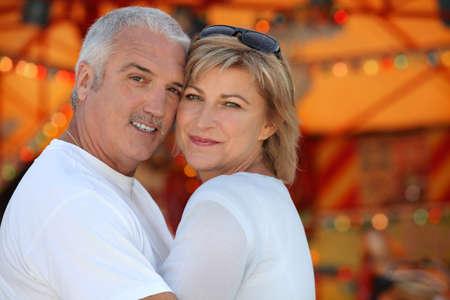 Couple hugging on holiday Stock Photo - 11456957