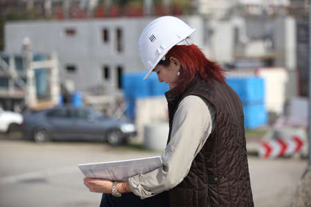 Female site surveyor Stock Photo - 11457296