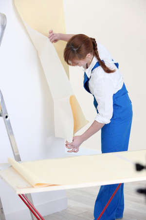 Woman decorator photo