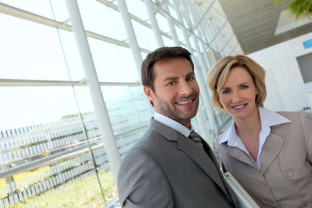 Businessman and woman. photo