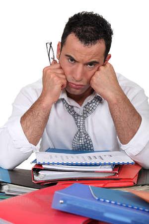 grouch: Portrait of a grumpy man Stock Photo
