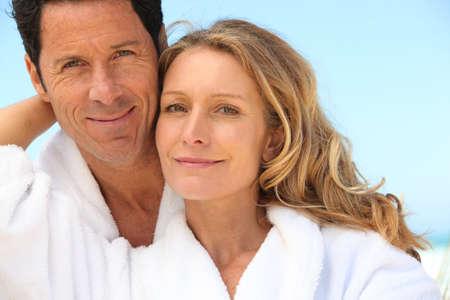 wind down: Happy couple
