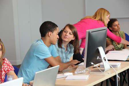 Computer class photo