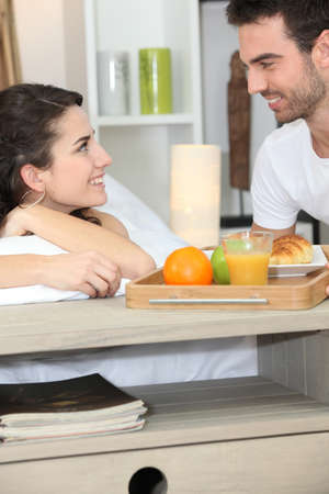 Breakfast in bed Stock Photo - 11455847