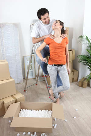 couple moving in their new apartment Stock Photo - 11455798