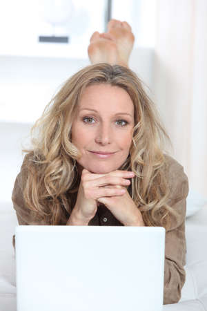 Woman on laptop Stock Photo - 11456020