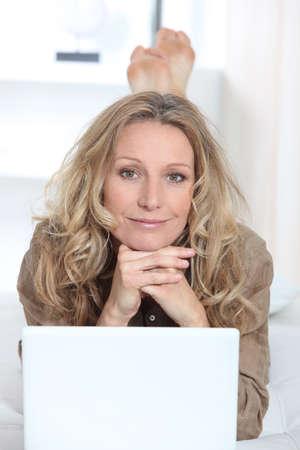 Woman on laptop Stock Photo - 11456020