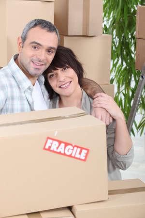 Couple moving house Stock Photo - 11456162