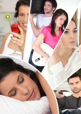 leisure time: daily life activities Stock Photo