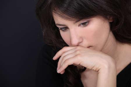 cheerless: woman thinking