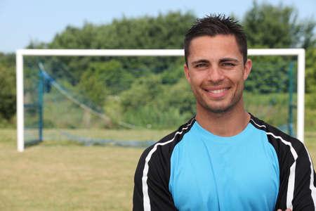 good shirt: Football player Stock Photo