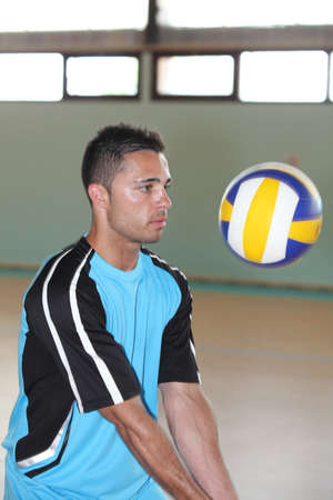 perspiring: volley -ball